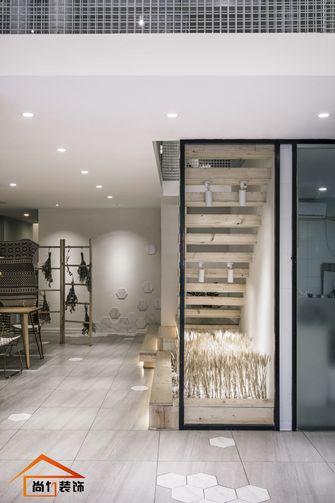140平米田园风格楼梯间设计图