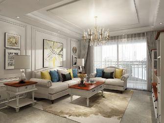 80平米三室两厅美式风格客厅设计图