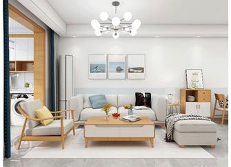 130平米三室两厅北欧风格客厅装修案例