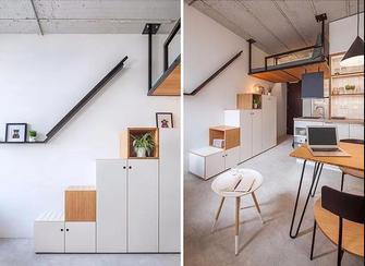 70平米三室一厅法式风格楼梯间装修效果图