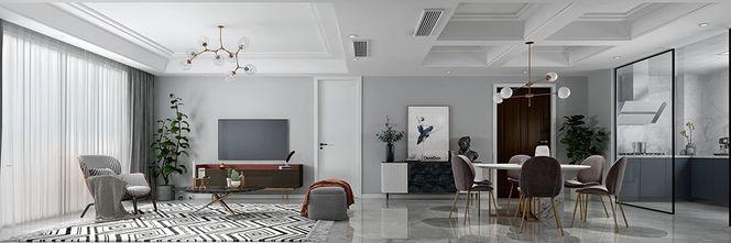 140平米三室两厅现代简约风格客厅装修图片大全