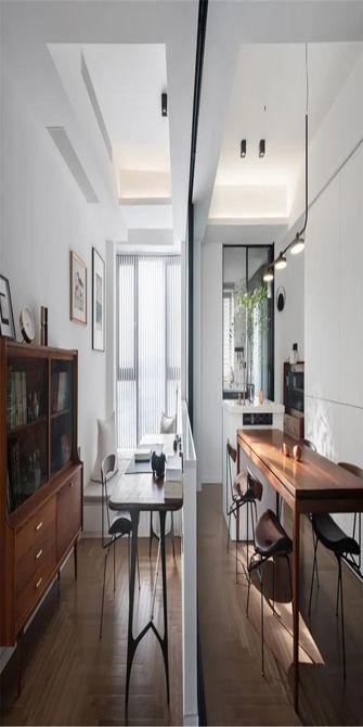 130平米三室一厅新古典风格书房图