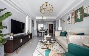 120平米三室一厅美式风格客厅效果图