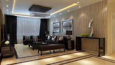 110平米公寓现代简约风格客厅装修案例