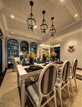 120平米三室两厅地中海风格餐厅图片