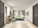 豪华型140平米别墅混搭风格卧室效果图