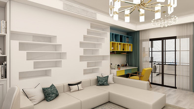 50平米一室一厅现代简约风格客厅欣赏图