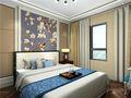 80平米现代简约风格卧室壁纸图