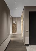90平米三室两厅现代简约风格走廊装修效果图