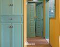 60平米公寓东南亚风格玄关设计图