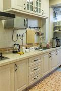 5-10万110平米三室两厅田园风格厨房家具装修案例