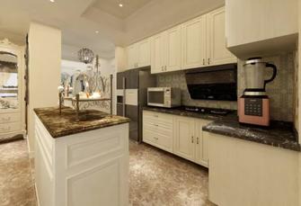 140平米三英伦风格厨房设计图