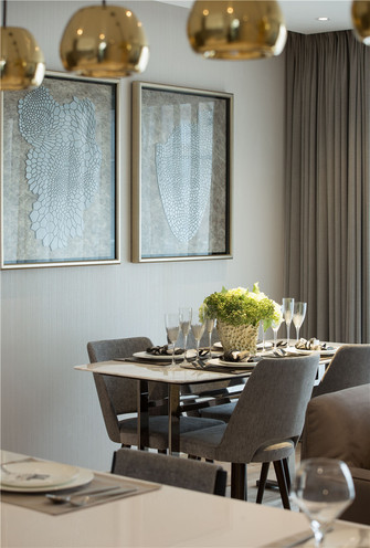120平米四室一厅现代简约风格餐厅图片