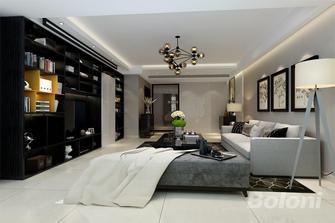 100平米三室一厅混搭风格客厅欣赏图