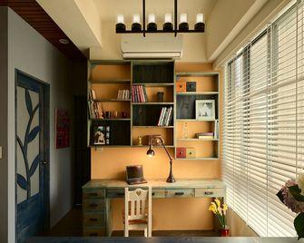 120平米三室两厅田园风格书房装修图片大全