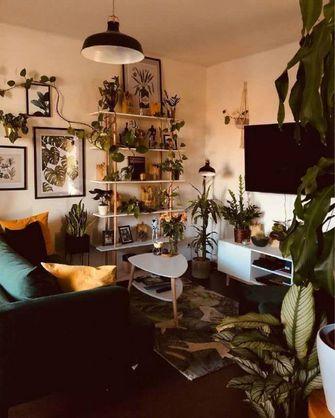 80平米一室一厅田园风格客厅效果图