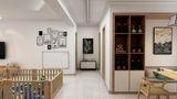 130平米三室两厅田园风格走廊图片