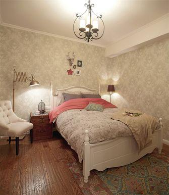 120平米三室一厅田园风格卧室欣赏图