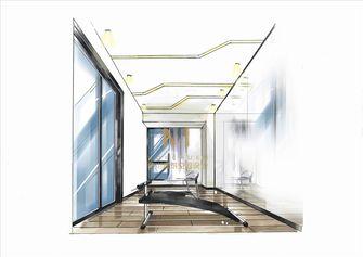140平米三室两厅现代简约风格健身室设计图