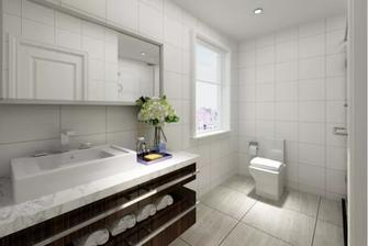 110平米一居室北欧风格卫生间设计图