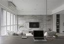 80平米现代简约风格客厅沙发装修案例