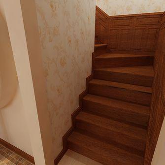 富裕型90平米日式风格楼梯图