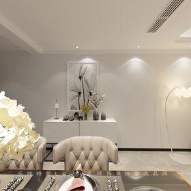 80平米三室兩廳現代簡約風格餐廳裝修案例