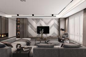 140平米四現代簡約風格客廳設計圖
