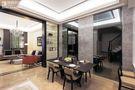 120平米复式现代简约风格餐厅背景墙效果图