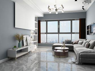 90平米现代简约风格客厅效果图