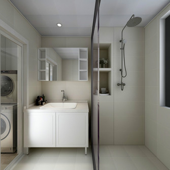 70平米公寓宜家风格卫生间效果图