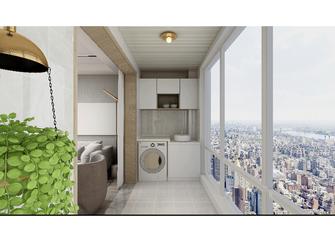 120平米三室两厅日式风格阳台图片