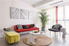 70平米現代簡約風格客廳設計圖