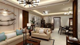 100平米三室两厅中式风格客厅图片大全