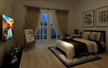 140平米一居室现代简约风格卧室装修图片大全