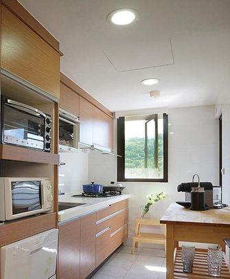 经济型90平米三室三厅田园风格厨房设计图