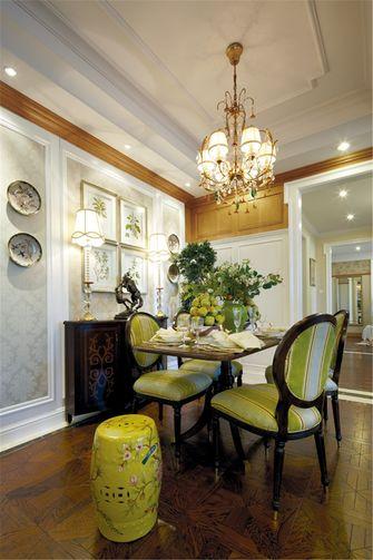 90平米三室一厅田园风格餐厅装修图片大全