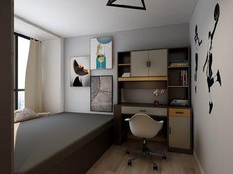 60平米三现代简约风格书房图