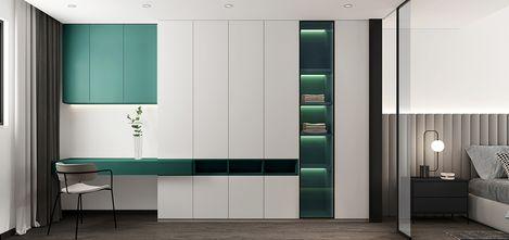 110平米公寓现代简约风格衣帽间设计图