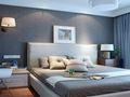 40平米小户型现代简约风格卧室背景墙装修案例