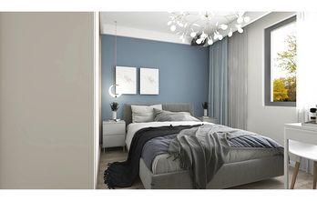 50平米一居室现代简约风格卧室图