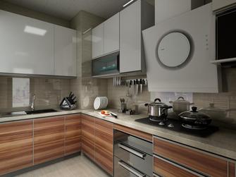 80平米现代简约风格厨房橱柜欣赏图