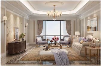 140平米三新古典风格客厅装修案例