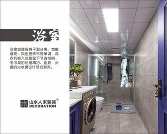 120平米三室两厅英伦风格卫生间图片