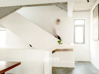 140平米田园风格楼梯间欣赏图