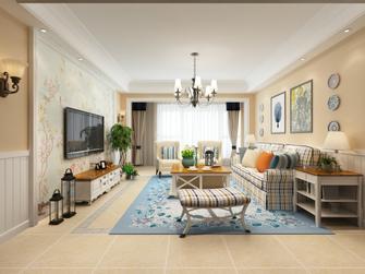 110平米复式美式风格客厅效果图