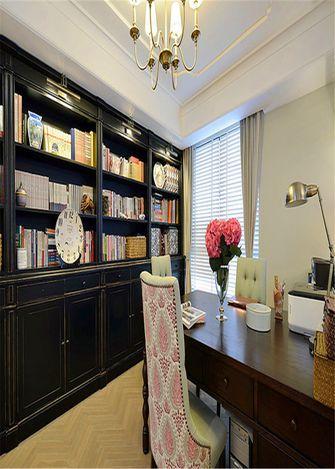 130平米三室一厅田园风格书房欣赏图