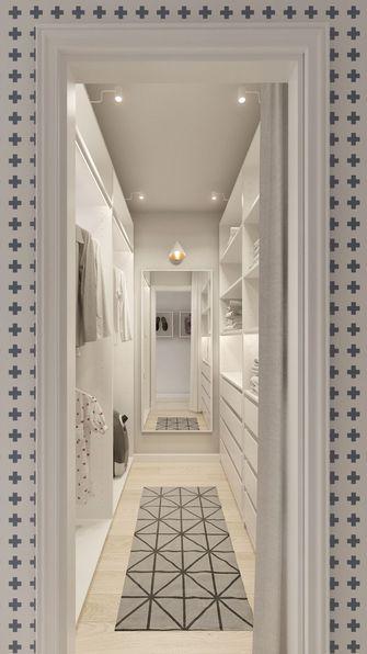 70平米一室两厅北欧风格衣帽间效果图