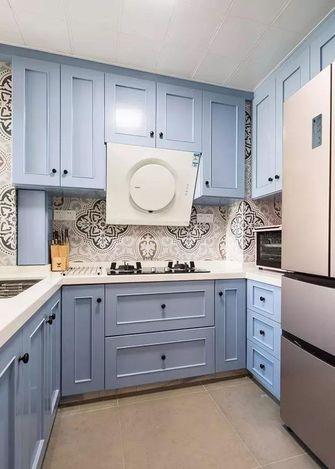 80平米三室一厅美式风格厨房图