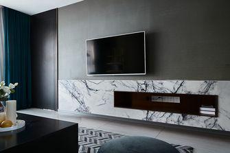 130平米三室一厅混搭风格客厅设计图